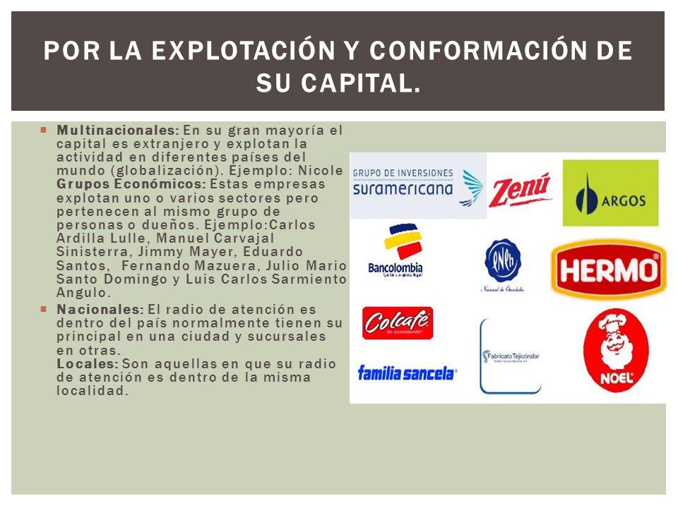 POR LA EXPLOTACIÓN Y CONFORMACIÓN DE SU CAPITAL.