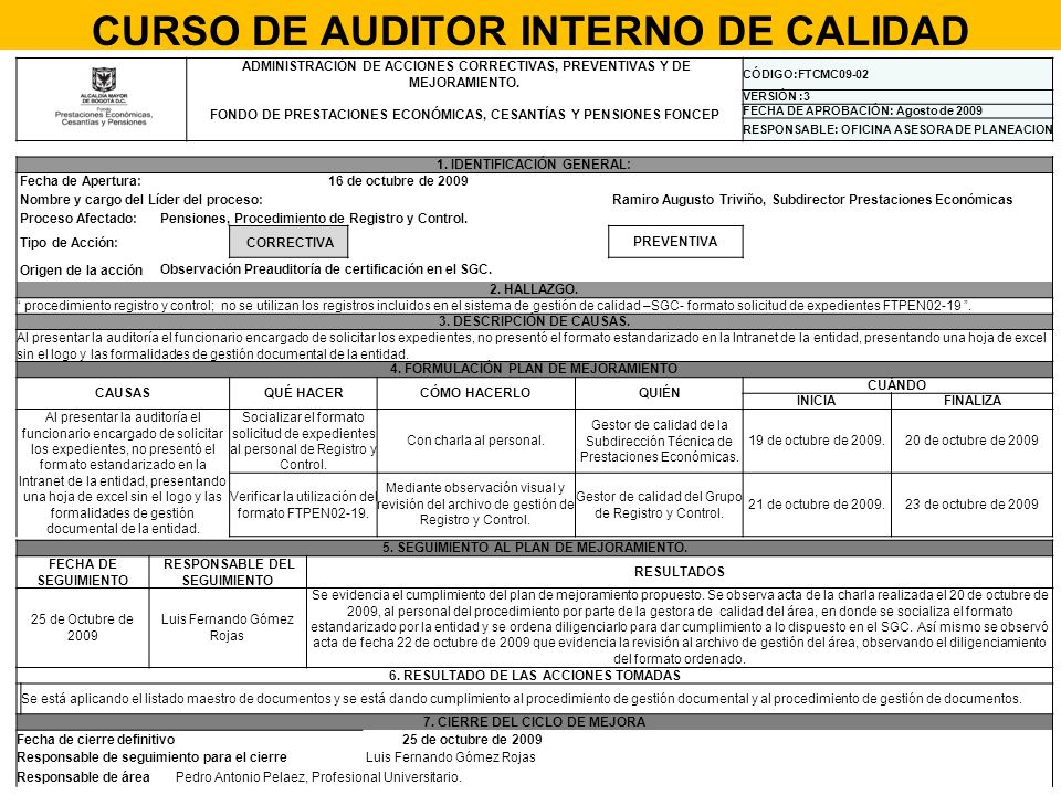 curso de auditor interno de calidad ppt descargar. Black Bedroom Furniture Sets. Home Design Ideas
