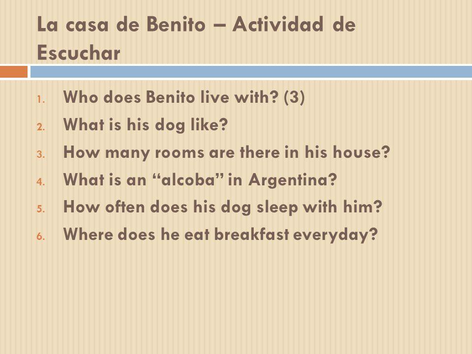 La casa de Benito – Actividad de Escuchar