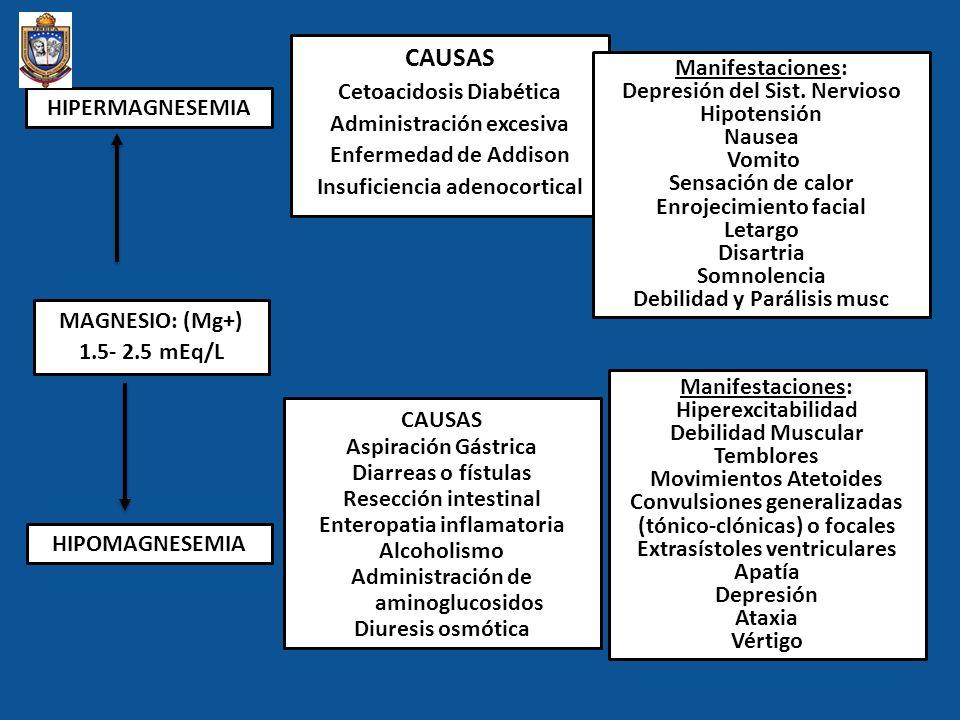 CAUSAS Cetoacidosis Diabética Administración excesiva