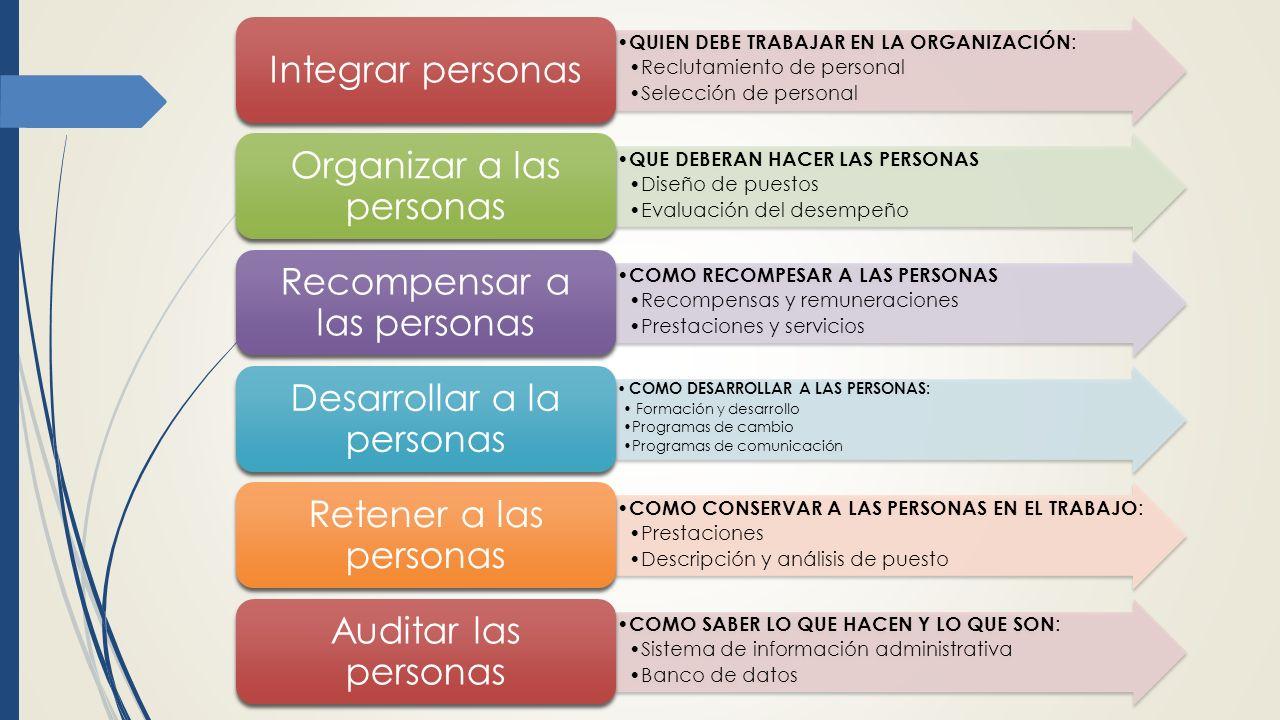 Organizar a las personas