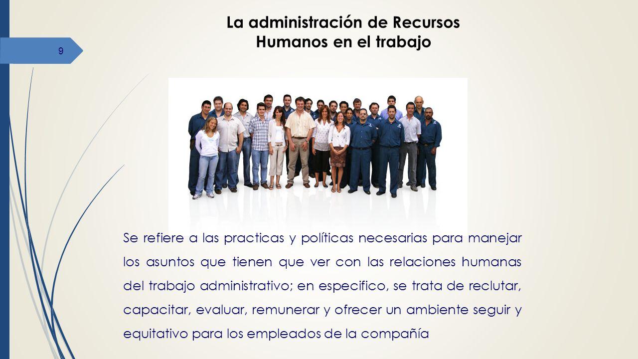 La administración de Recursos