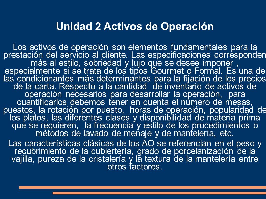 Unidad 2 Activos de Operación