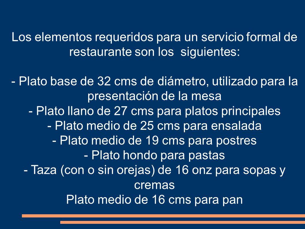 - Plato llano de 27 cms para platos principales