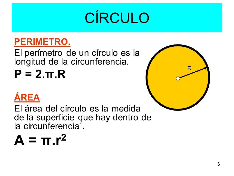 Resultat d'imatges de area y longitud dela circunferencia