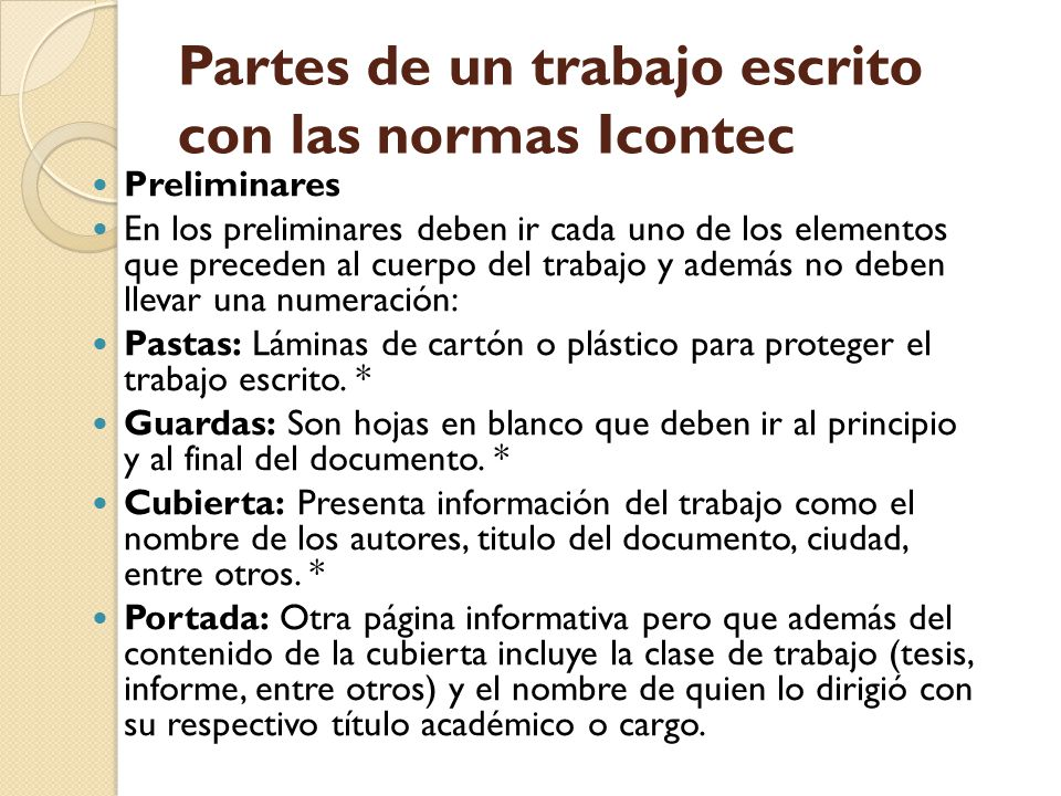 Normas ICONTEC para trabajos escritos - ppt descargar - photo#17