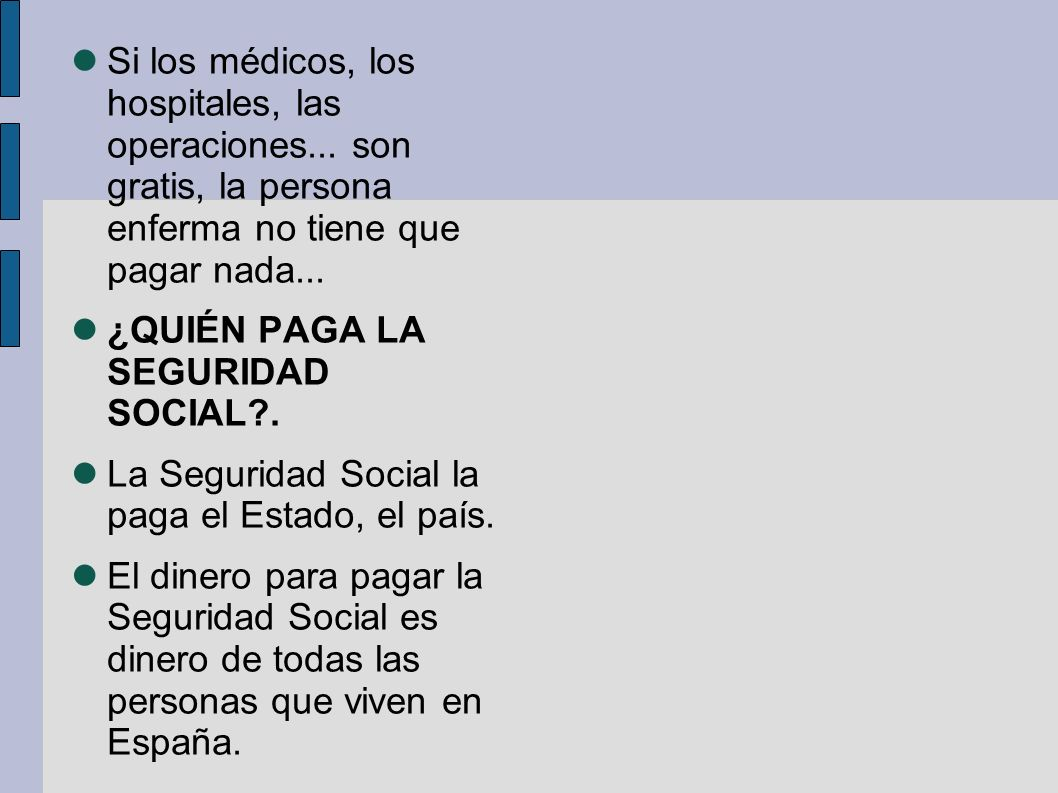 Qu es la seguridad social ppt video online descargar for Oficina no4 de la seguridad social madrid
