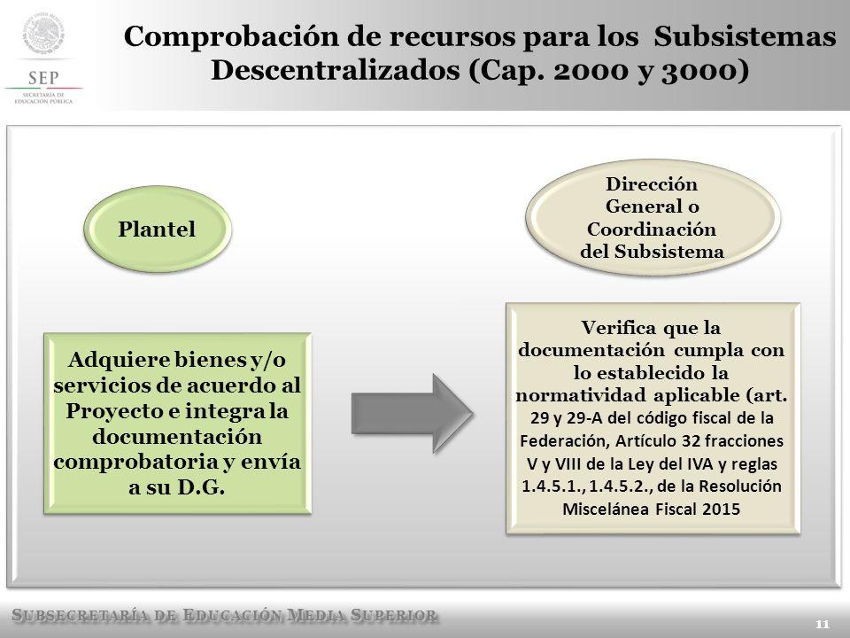 Dirección General o Coordinación del Subsistema
