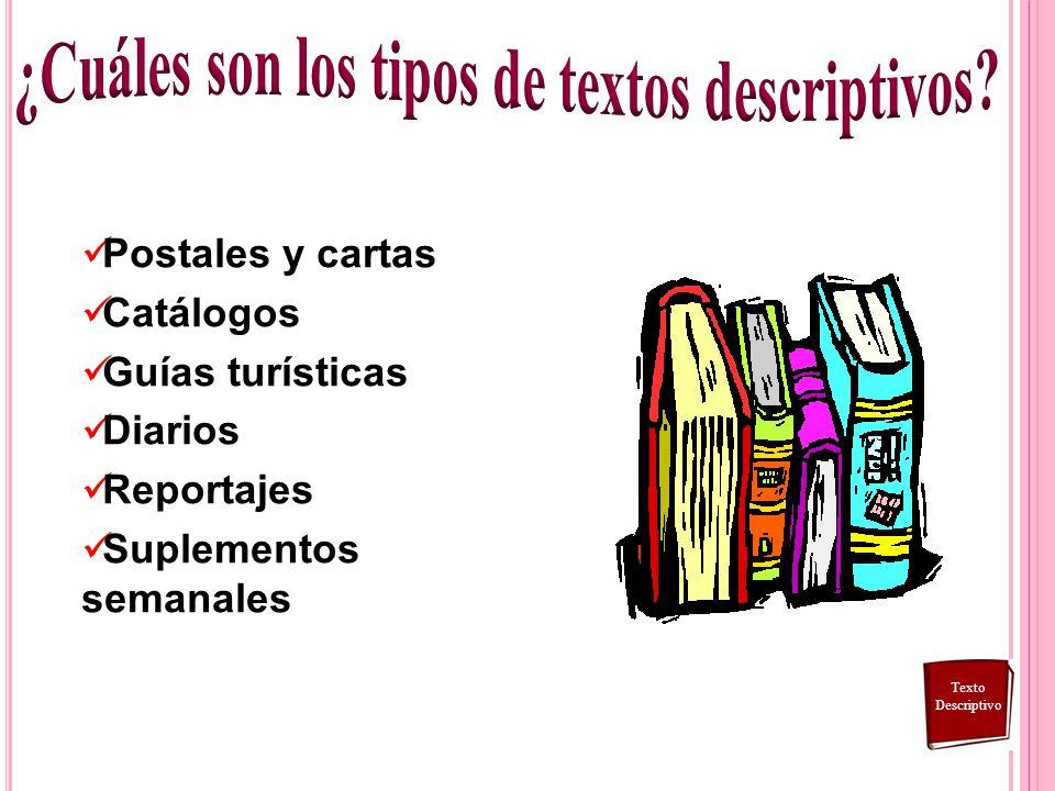 ¿Cuáles son los tipos de textos descriptivos