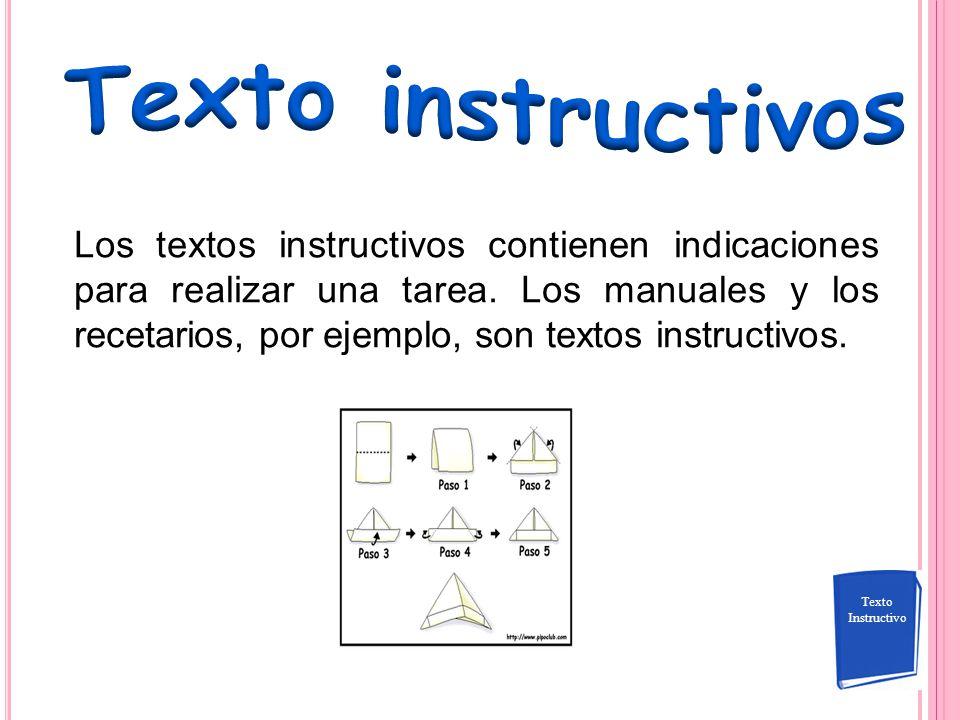 Texto instructivos