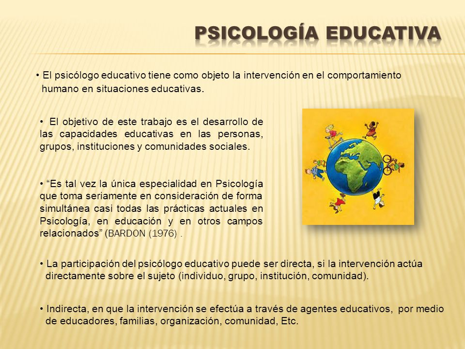 Introducci n a la psicolog a ppt descargar for La accion educativa en el exterior