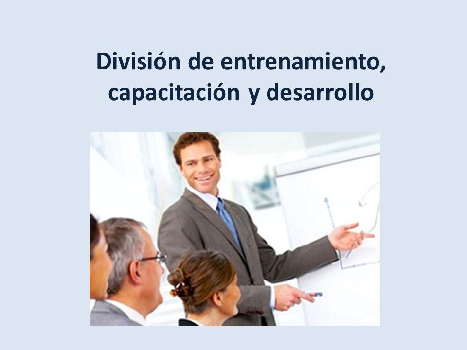 División de entrenamiento, capacitación y desarrollo