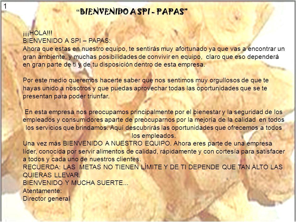 BIENVENIDO A SPI - PAPAS