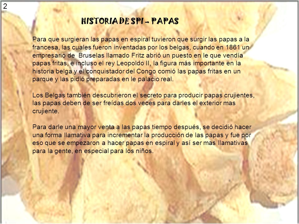 2 HISTORIA DE SPI – PAPAS.
