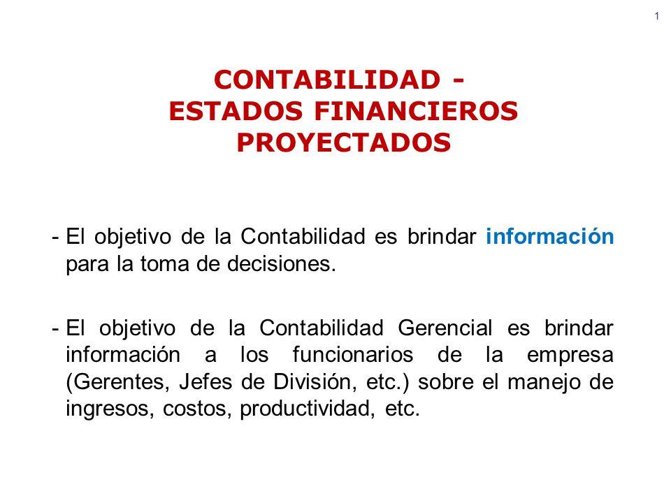 CONTABILIDAD - ESTADOS FINANCIEROS PROYECTADOS - ppt video online ...