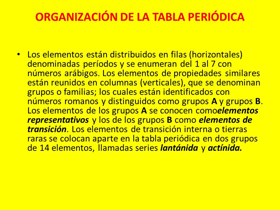 Introduccin por qu determinados elementos tienen propiedades organizacin de la tabla peridica urtaz Images