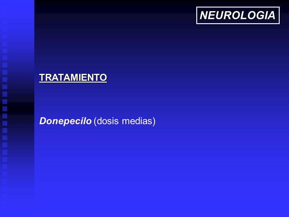 NEUROLOGIA TRATAMIENTO Donepecilo (dosis medias)