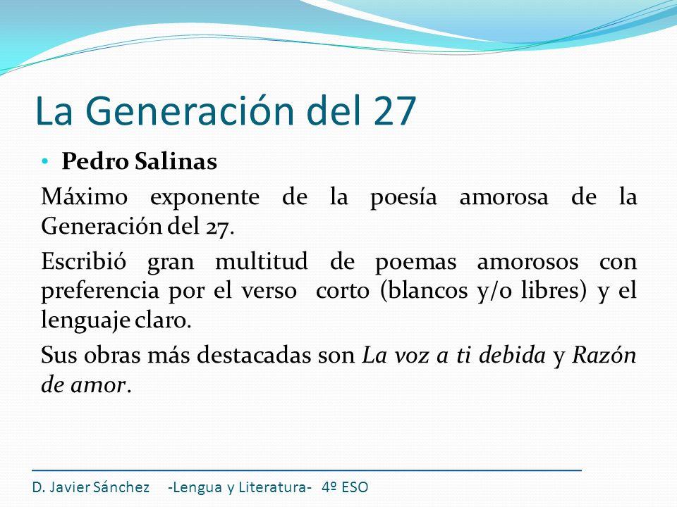 La Generación del 27 Pedro Salinas