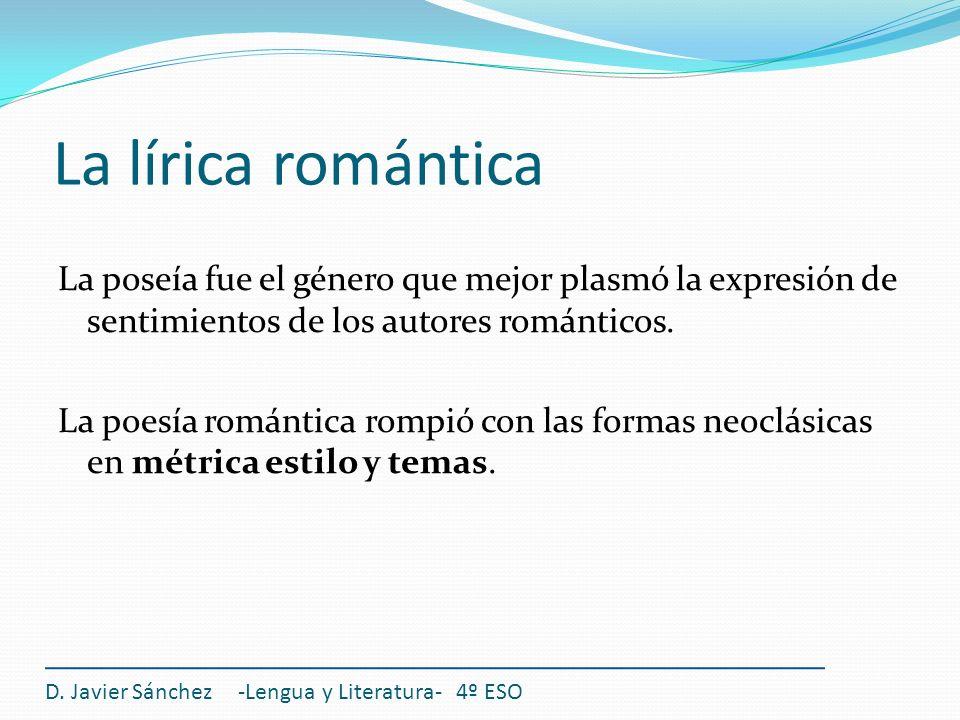 La lírica romántica