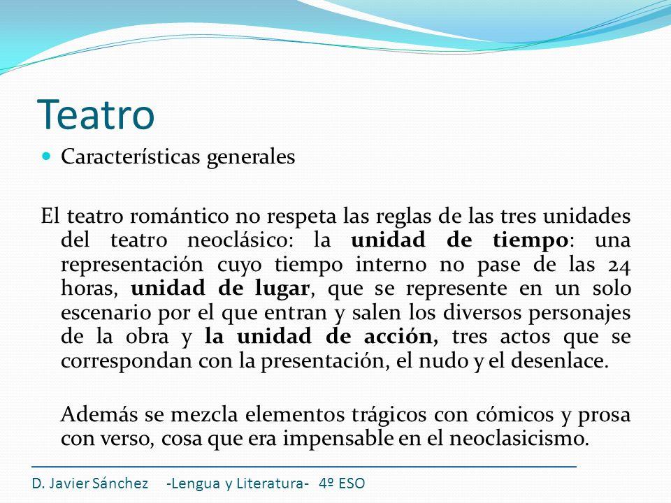 Teatro Características generales