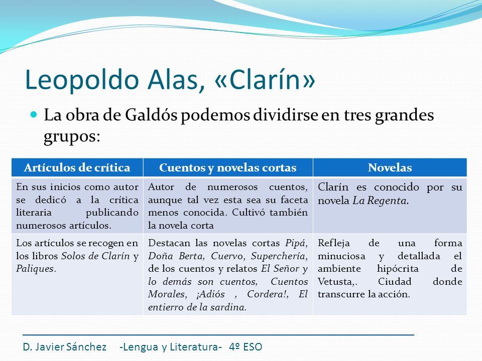 Leopoldo Alas, «Clarín»