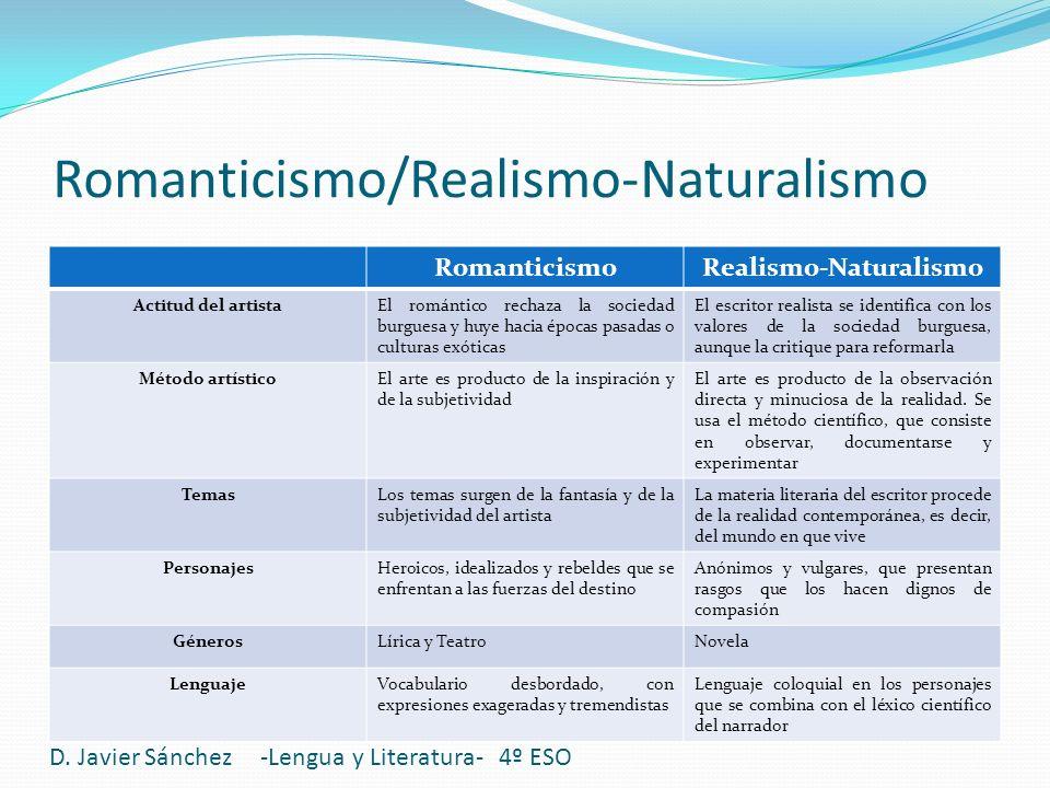 Romanticismo/Realismo-Naturalismo