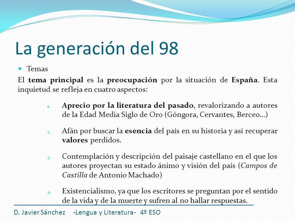 La generación del 98 Temas