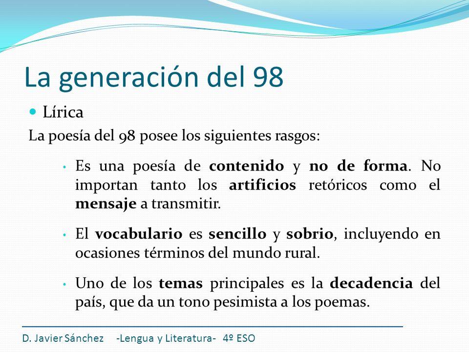 La generación del 98 Lírica