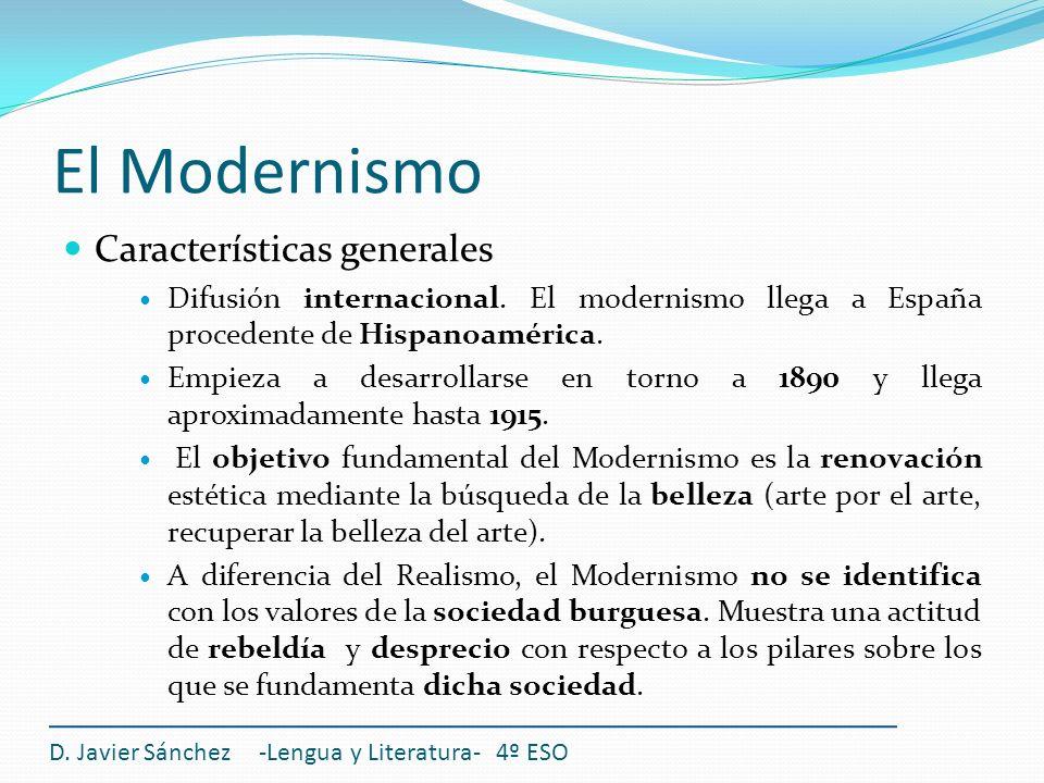 El Modernismo Características generales