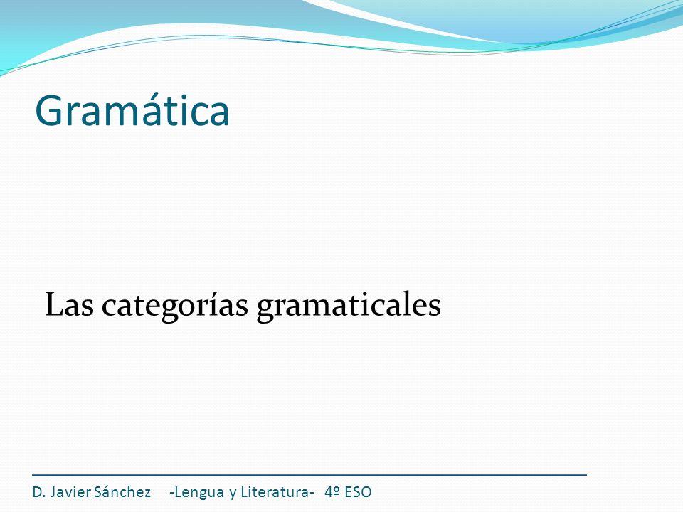 Gramática Las categorías gramaticales