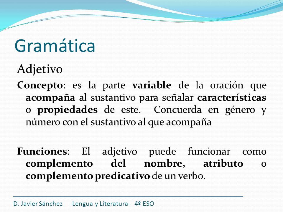 Gramática Adjetivo.