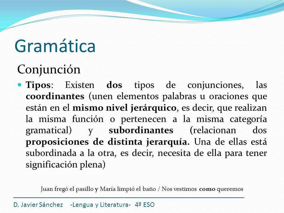 Gramática Conjunción.