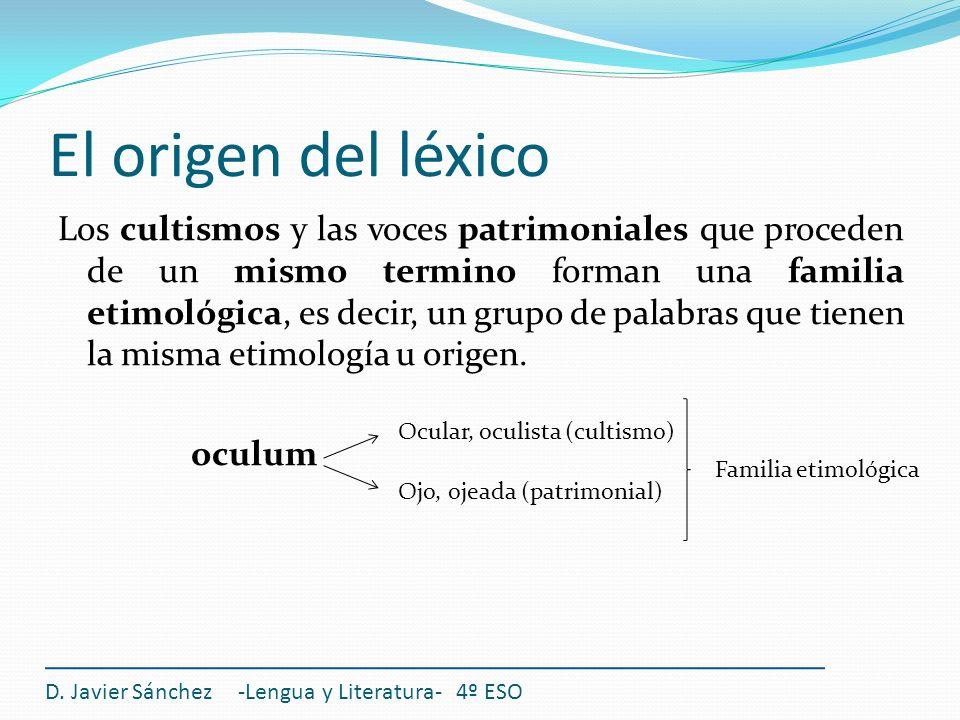 El origen del léxico