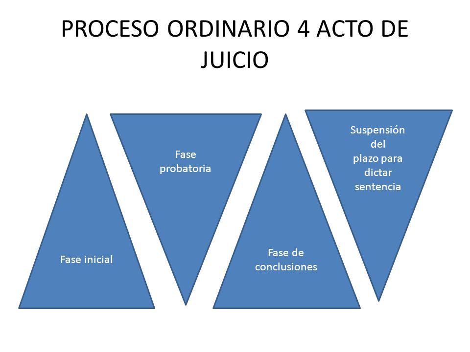 PROCESO ORDINARIO 4 ACTO DE JUICIO