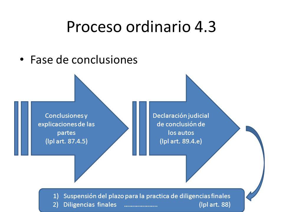 Proceso ordinario 4.3 Fase de conclusiones