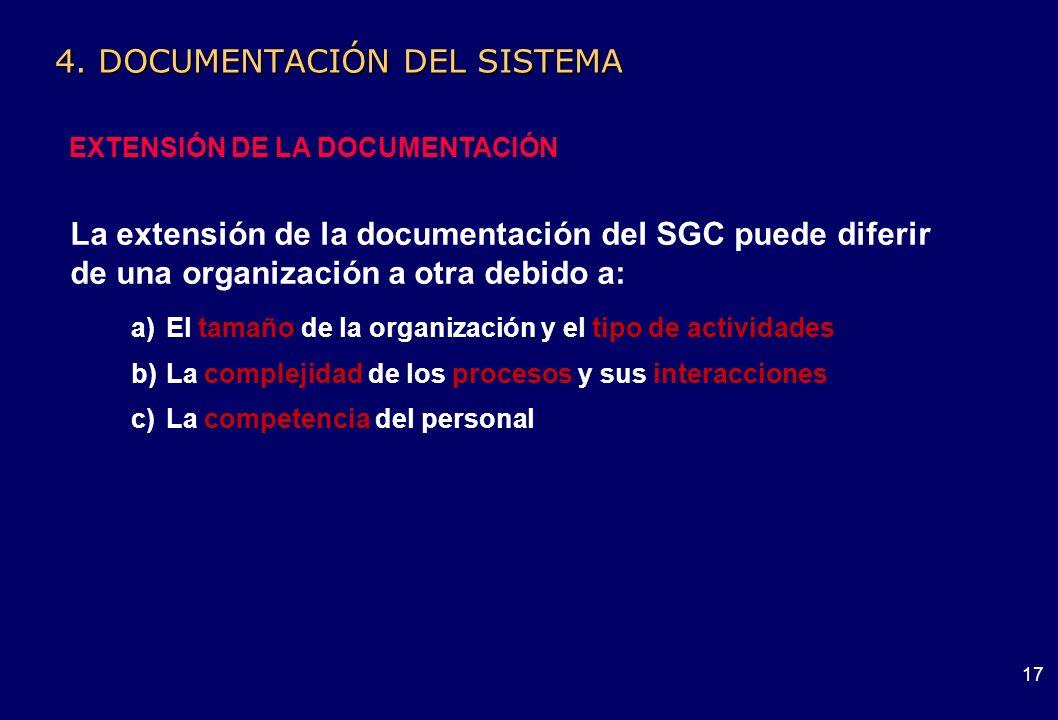 4. DOCUMENTACIÓN DEL SISTEMA