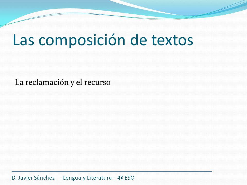 Las composición de textos