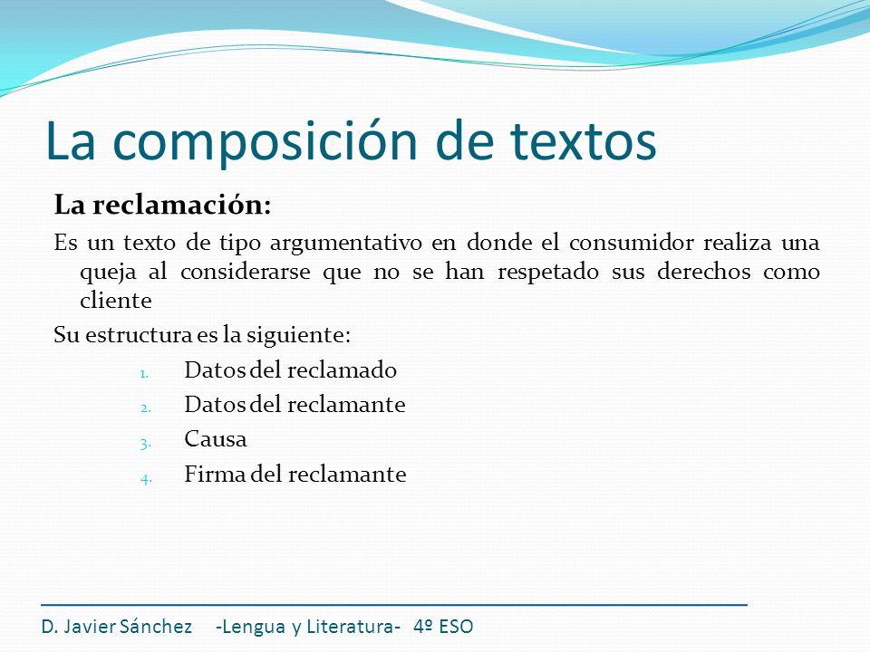 La composición de textos