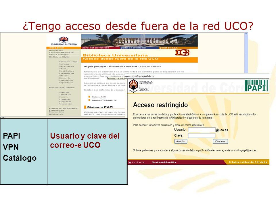 ¿Tengo acceso desde fuera de la red UCO