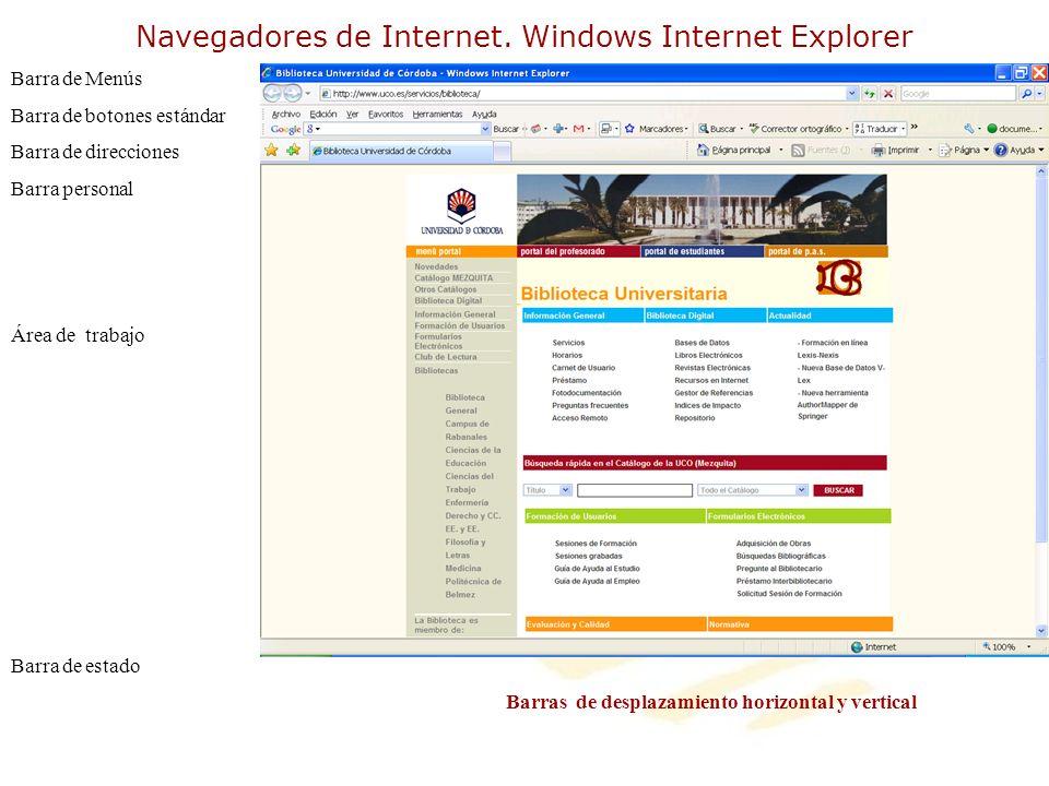 Navegadores de Internet. Windows Internet Explorer
