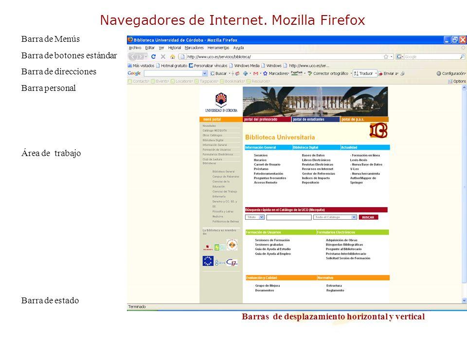 Navegadores de Internet. Mozilla Firefox