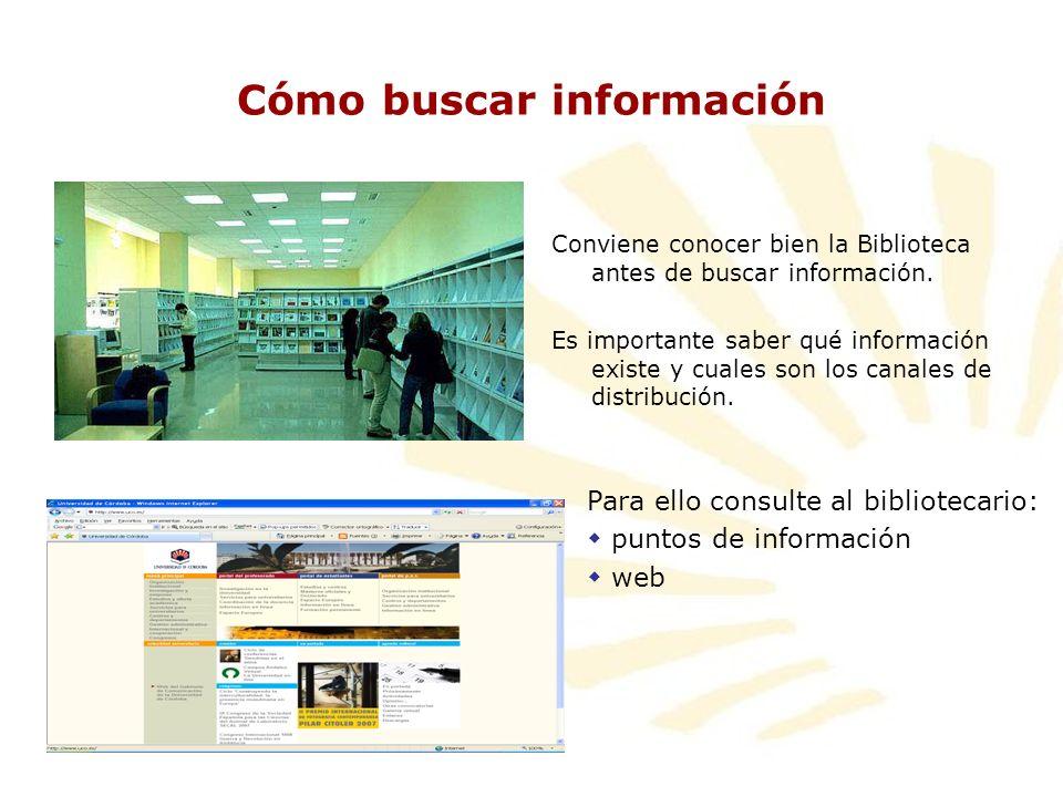 Cómo buscar información