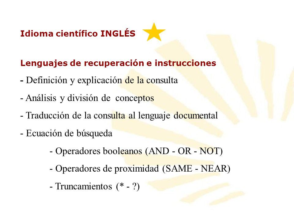 - Definición y explicación de la consulta
