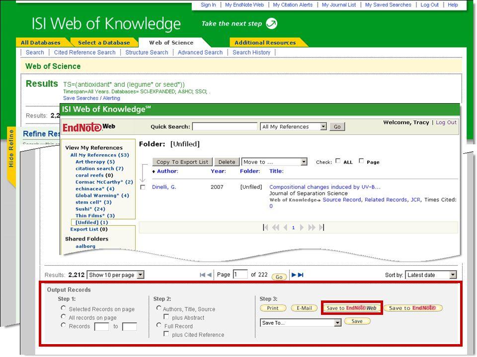 Usted puede** analizar los resultados rápidamente o crear los reportes de citas para rastrear la información a través del tiempo.