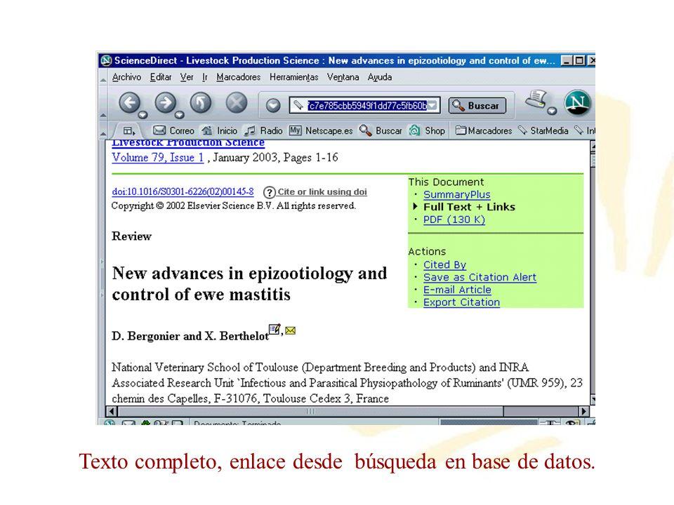 Texto completo, enlace desde búsqueda en base de datos.