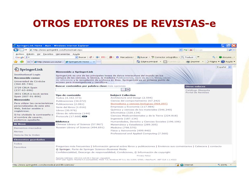 OTROS EDITORES DE REVISTAS-e
