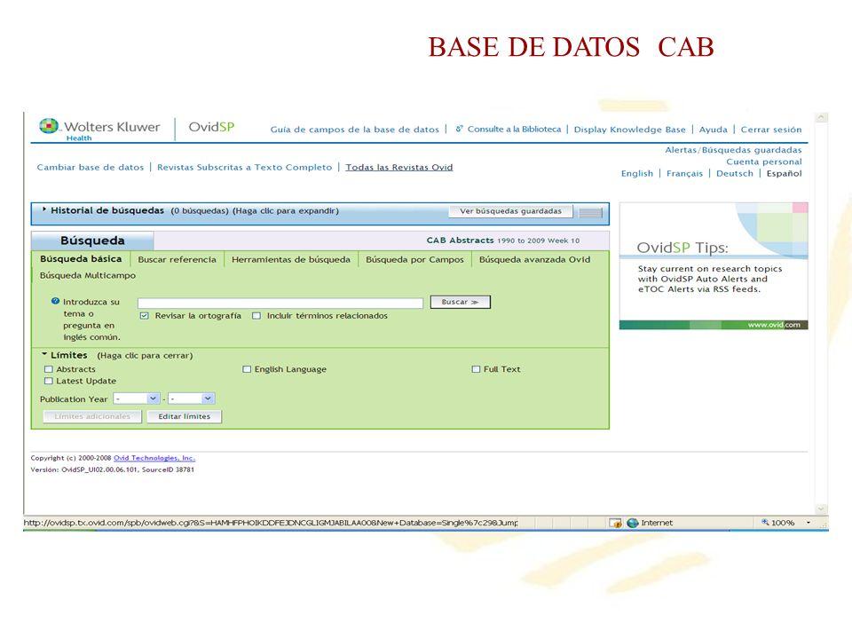 BASE DE DATOS CAB