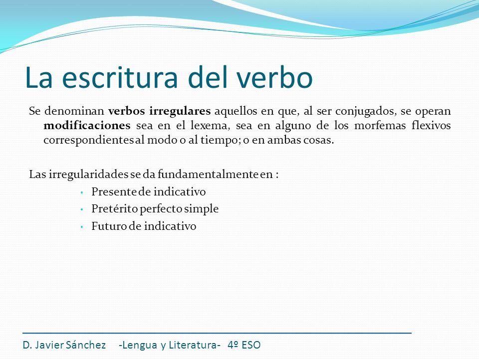 La escritura del verbo