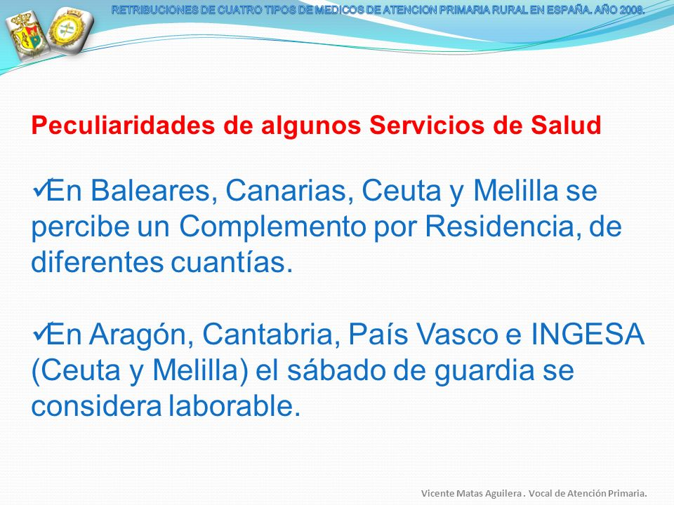 RETRIBUCIONES DE CUATRO TIPOS DE MEDICOS DE ATENCION PRIMARIA RURAL EN ESPAÑA. AÑO 2008.