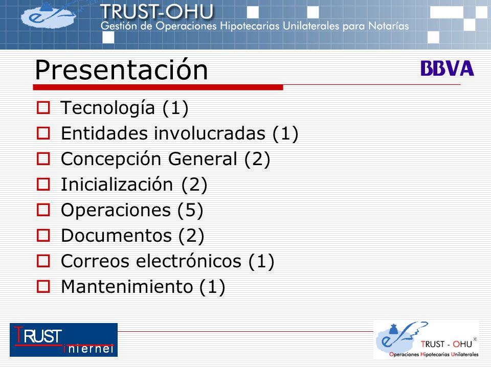 Presentación Tecnología (1) Entidades involucradas (1)